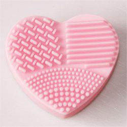 Heart Shaped Board Wash Silica Glove Scrubber up Cosmetic Tools for Makeup -