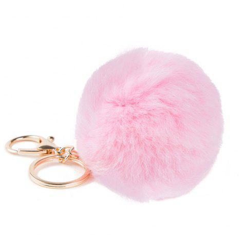 Chic Lovely Fluffy Rabbit Ear Fur Anime Key Chain Rings Pendant Cute Pompom Artificial Rabbit Fur Keychain