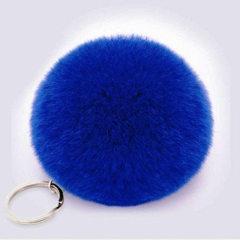 Latest Lovely Fluffy Rabbit Ear Fur Anime Key Chain Rings Pendant Cute Pompom Artificial Rabbit Fur Keychain