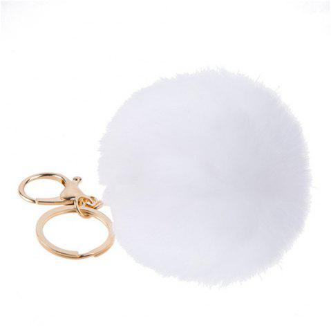 New Lovely Fluffy Rabbit Ear Fur Anime Key Chain Rings Pendant Cute Pompom Artificial Rabbit Fur Keychain