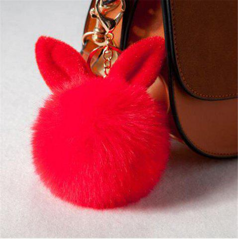 Affordable Cute Bunny Fake Rabbit Fur KeyChain Women Car keyring Charms