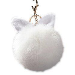 Cute Bunny Fake Rabbit Fur KeyChain Women Car keyring Charms -