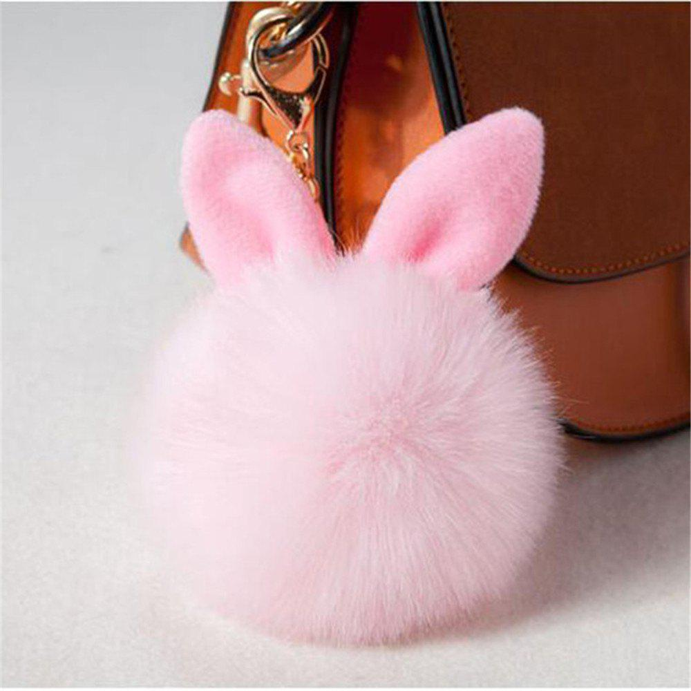 Cute Bunny Fake Rabbit Fur KeyChain Women Car keyring Charms