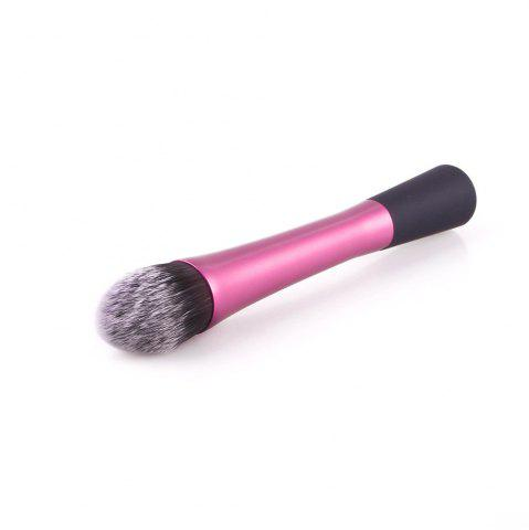Unique Powder Blush Brushes Facial Beauty Foundation Makeup Tools Pink Metal Handle Flame Shape