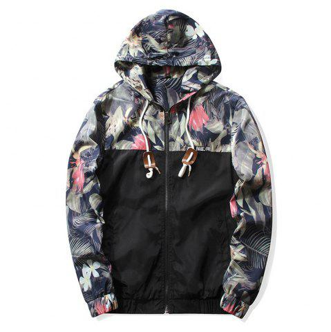 Best Floral Bomber Jacket Men Hip Hop Slim Fit Flowers Pilot Bomber Jacket