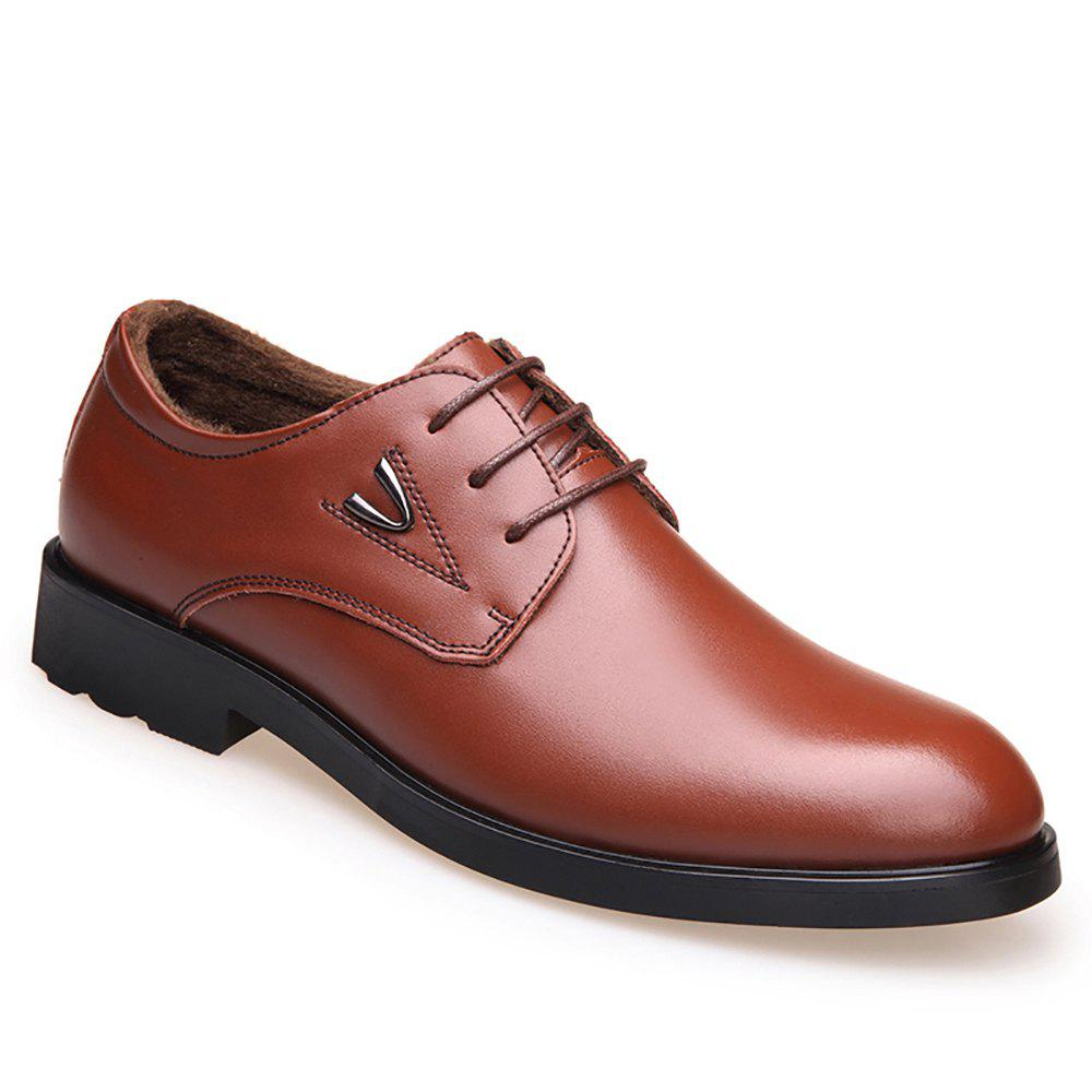 Trendy Leisure Leather Warm Shoes