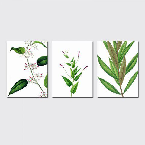 Trendy QiaoJiaHuaYuan No Frame Canvas Living Room Sofa Background Decoration Hangs a Small Fresh Plant Leaf