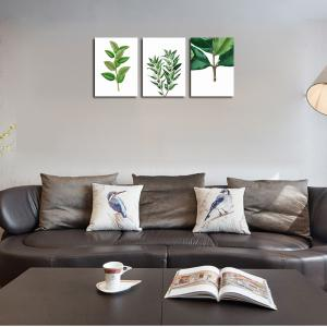 QiaoJiaHuaYuan No Frame Canvas Three Pieces of the Living Room Bedroom Background Decoration Hanging Paint plant Clear n -