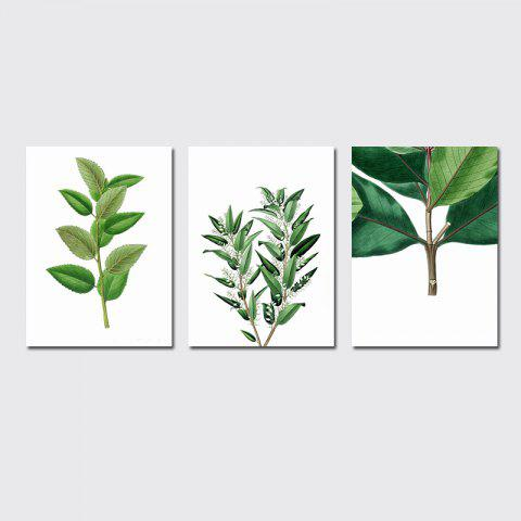 Outfit QiaoJiaHuaYuan No Frame Canvas Three Pieces of the Living Room Bedroom Background Decoration Hanging Paint plant Clear n