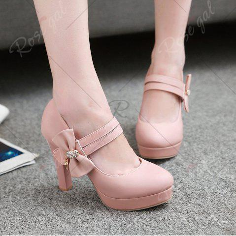 Cheap Women's Pumps Bow Knot Ornament High Heel Sweet Platform Shoes