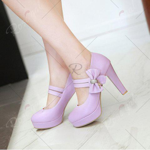 Shop Women's Pumps Bow Knot Ornament High Heel Sweet Platform Shoes