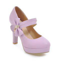 Women's Pumps Bow Knot Ornament High Heel Sweet Platform Shoes -