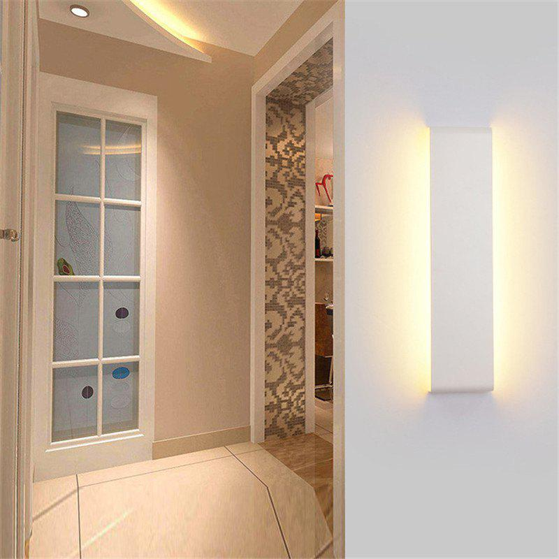 ca34f29500f Unique 55cm White LED Modern Wall Lamp Aluminum Mirror Light Living Room  Bathroom Hallway Stairs bedside