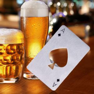 Bottle Opener Portable Spades Beer Stainless Steel Poker Card Bar Tool Kitchen Gadget Accessories -