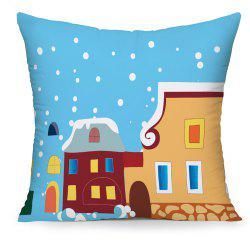 Hand-Painted Cartoon Comic Castle Cushion Cover Pillowcase -