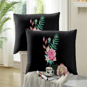 Embroidered and Painted Series Pattern Leaf Design Fresh  Comfortable High Grade Bedding -