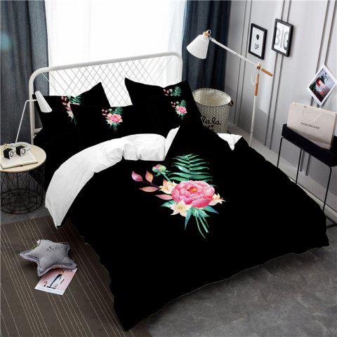 Latest Embroidered and Painted Series Pattern Leaf Design Fresh  Comfortable High Grade Bedding