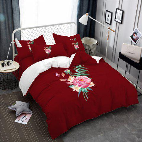 Trendy Embroidered and Painted Series Pattern Leaf Design Fresh  Comfortable High Grade Bedding