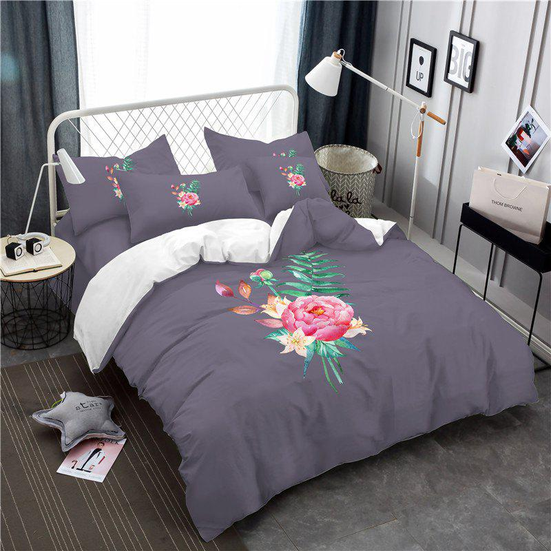 Shops Embroidered and Painted Series Pattern Leaf Design Fresh  Comfortable High Grade Bedding