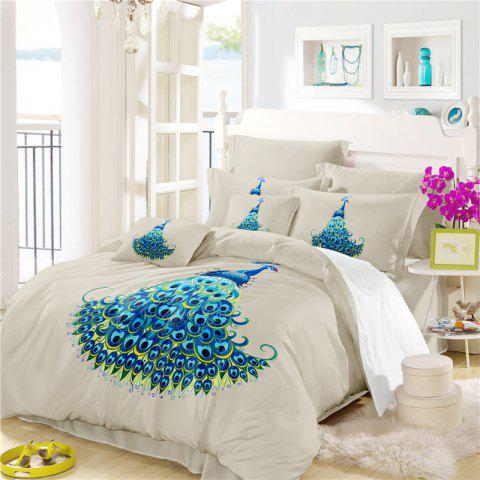 Cheap Embroidery Peacock Feathers Series Four Pieces of Bedding SK11
