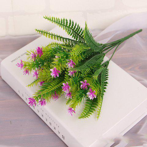New 4 Pcs Green Grass Plants Artificial Flower Babysbreath Simulation Flower Wedding Decoration for Home Party Office