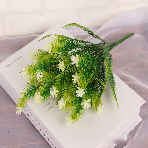 Unique 4 Pcs Green Grass Plants Artificial Flower Babysbreath Simulation Flower Wedding Decoration for Home Party Office