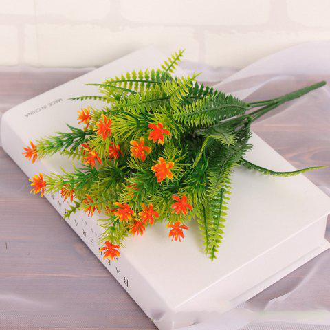 Trendy 4 Pcs Green Grass Plants Artificial Flower Babysbreath Simulation Flower Wedding Decoration for Home Party Office