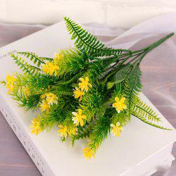 4 Pcs Green Grass Plants Artificial Flower Babysbreath Simulation Flower Wedding Decoration for Home Party Office -