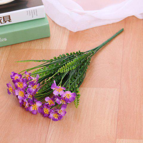 Fashion 4 PCS Artificial Green Plants Grass Fake Floral Plastic Flowers For Office Hotel Home Wedding Table Decoration