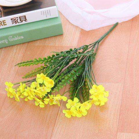 Shops 4 PCS Artificial Green Plants Grass Fake Floral Plastic Flowers For Office Hotel Home Wedding Table Decoration