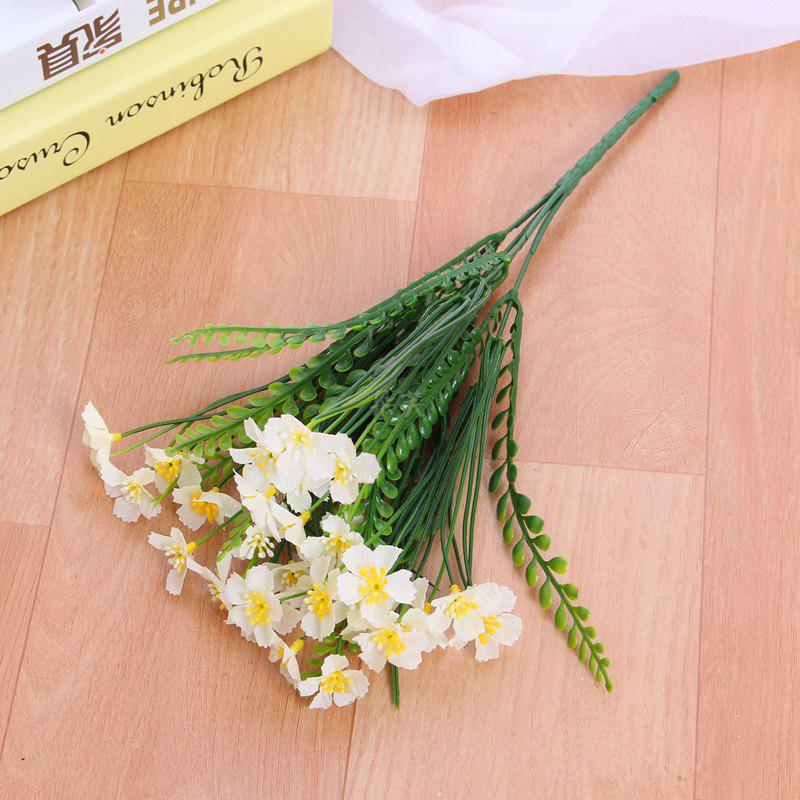 Buy 4 PCS Artificial Green Plants Grass Fake Floral Plastic Flowers For Office Hotel Home Wedding Table Decoration
