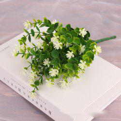 4 PCS Artificial Green Plants Grass Fake Floral Plastic Flowers For Office Home Wedding Table Decoration -