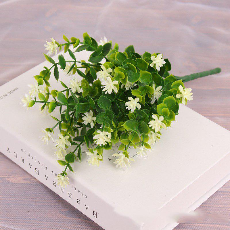 Chic 4 PCS Artificial Green Plants Grass Fake Floral Plastic Flowers For Office Home Wedding Table Decoration