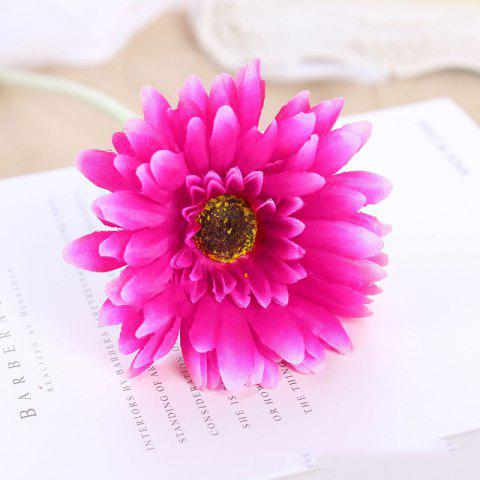 Affordable 8 PCS Artificial Gerbera Daisy Heads Silk Flower Home Wedding Decor Bouquet Party Home Decoration