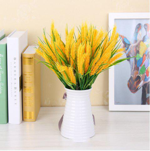 Fashion 4 Pcs Natural Dried Flowers Decorative Wheat Bouquet Artificial Flower Branches For Wedding Home Decoration