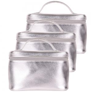 City Shop CS0528 Silver Portable Makeup Bag -