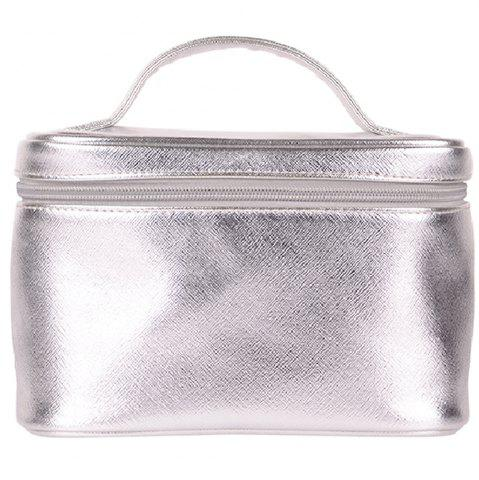 Online City Shop CS0528 Silver Portable Makeup Bag