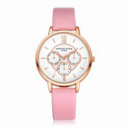 Lvpai P090-R Women Fashion Leather Band Quartz Watches -