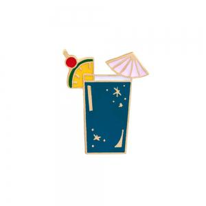 Summer Cartoon Brooch Parrot Animals Birds Drink Clothing Pin Badge Button  Metal Fashion Bag Backpack for Girls -
