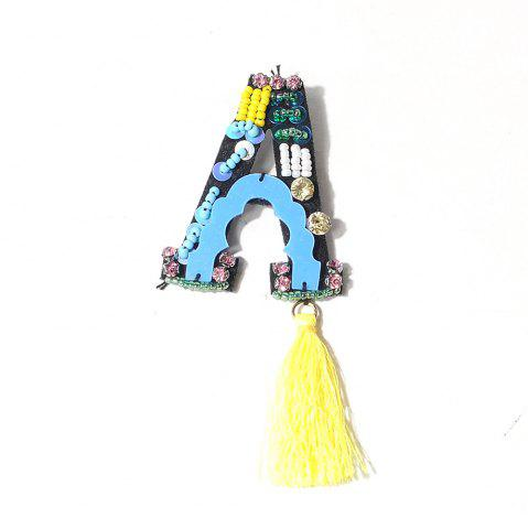 Discount Handmade  A Letter with Tassel Brooch Clothes Party Jewelry Gift Women