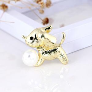 Cute Little White Imitation Cat Brooch Pins Fashion Jewelry Bijoux Brooch Wholesale Women Accessories -