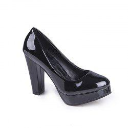 Thick And Round Head Single Shoes -