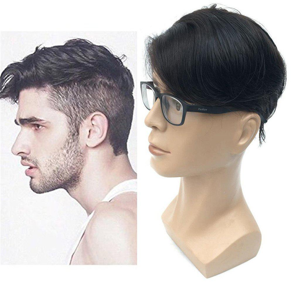 Outfits European Virgin Human Hair Toupee for Men with Soft Thin Super Swiss Lace 8 inch