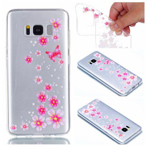 Chic for Samsung S8 Flower and Butterfly Painted Soft Clear TPU Mobile Smartphone Cover Shell Case