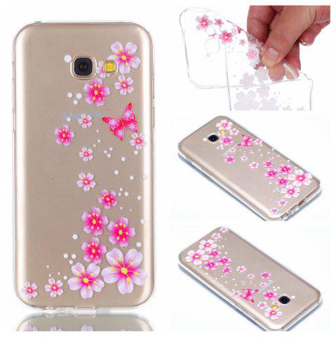 Trendy for Samsung A5 2017 Flower and Butterfly Painted Soft Clear TPU Mobile Smartphone Cover Shell Case