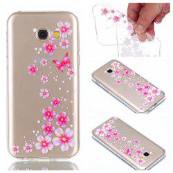 for Samsung A5 2017 Flower and Butterfly Painted Soft Clear TPU Mobile Smartphone Cover Shell Case -
