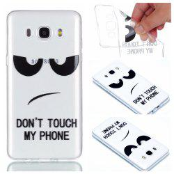 for Samsung J510 Eyes Painted Soft Clear TPU Phone Casing Mobile Smartphone Cover Shell Case -