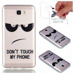 for Samsung J5 Prime Eyes Painted Soft Clear TPU Phone Casing Mobile Smartphone Cover Shell Case -