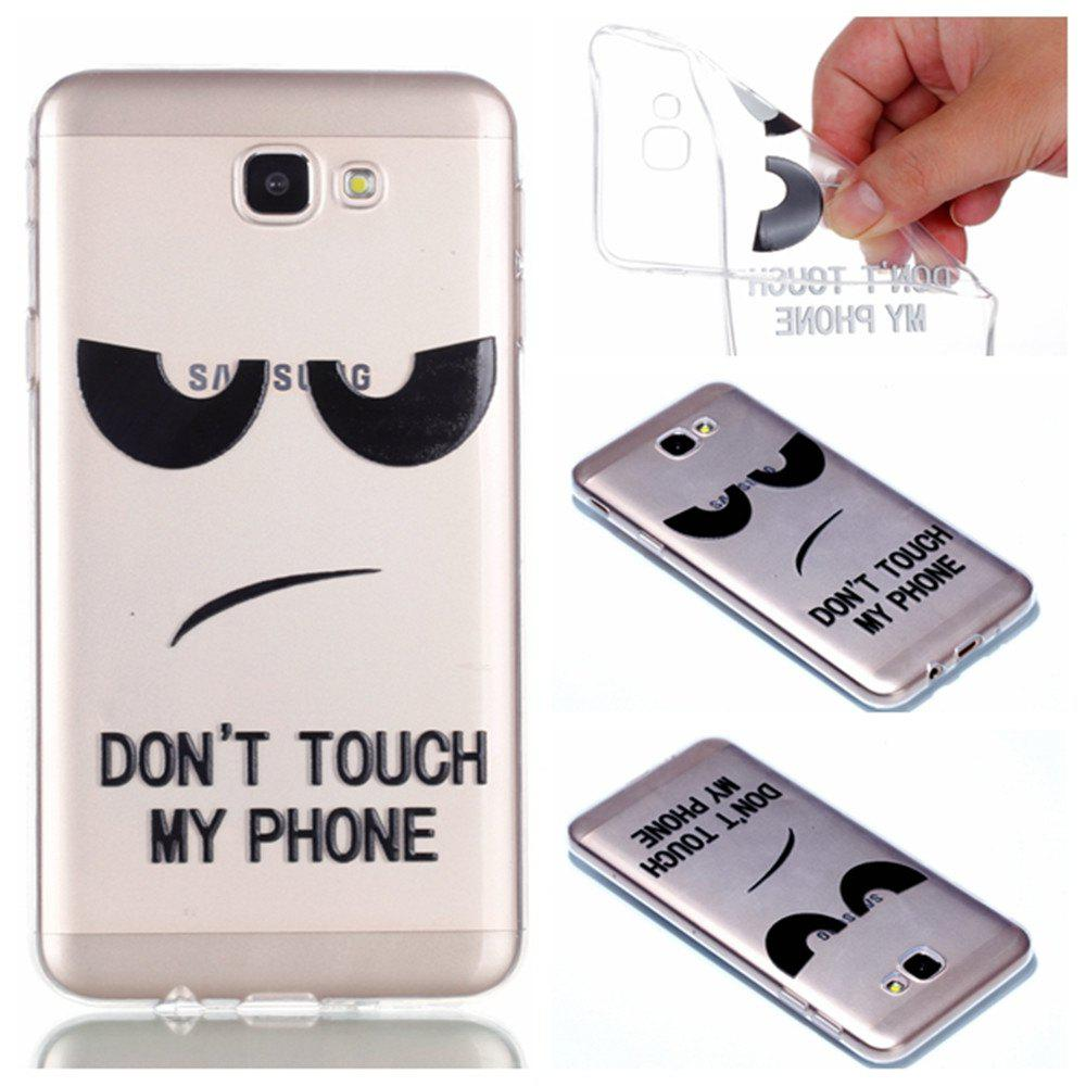 Sale for Samsung J5 Prime Eyes Painted Soft Clear TPU Phone Casing Mobile Smartphone Cover Shell Case