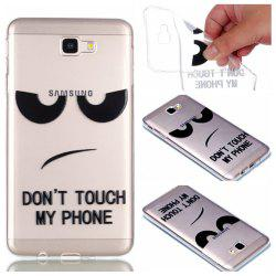 for Samsung J7 Prime Eyes Painted Soft Clear TPU Phone Casing Mobile Smartphone Cover Shell Case -